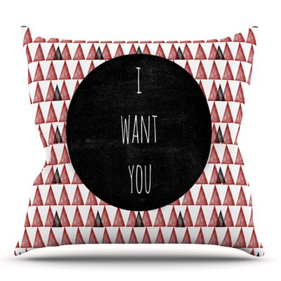 I Want You by Skye Zambrana Outdoor Throw Pillow
