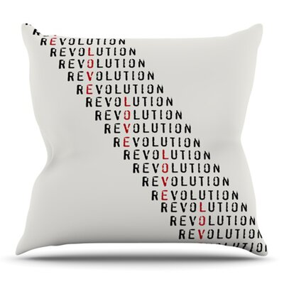 Revolution by Skye Zambrana Outdoor Throw Pillow