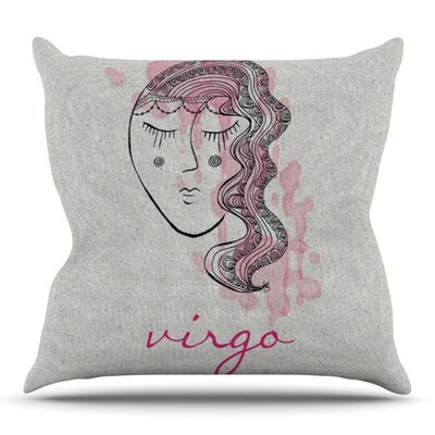 Virgo by Belinda Gillies Outdoor Throw Pillow