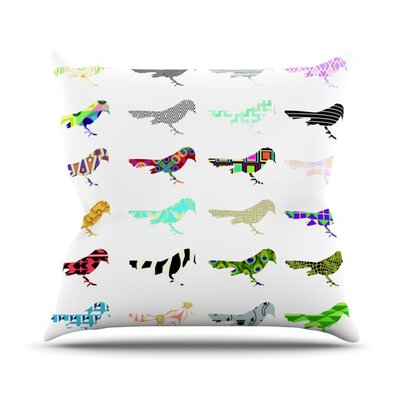 Birds Outdoor Throw Pillow Size: 16 H x 16 W x 3 D