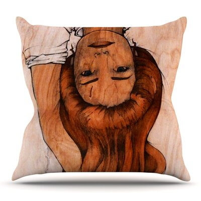 Girl by Brittany Guarino Outdoor Throw Pillow