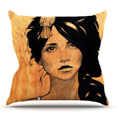Bra by Brittany Guarino Outdoor Throw Pillow