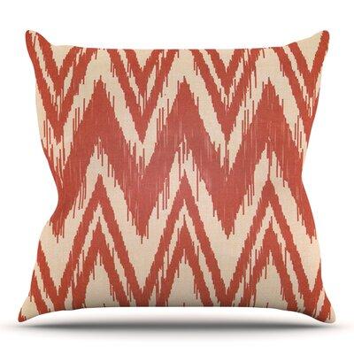 Tribal Chevron by Heidi Jennings Outdoor Throw Pillow