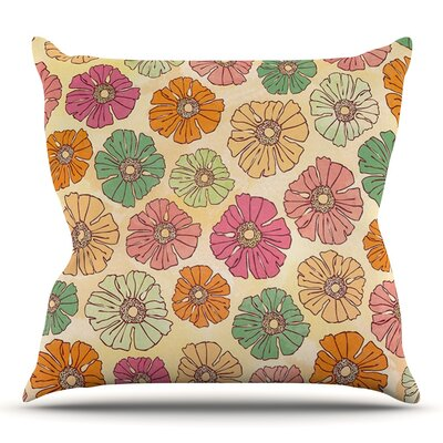 Vintage Petals by Heidi Jennings Outdoor Throw Pillow
