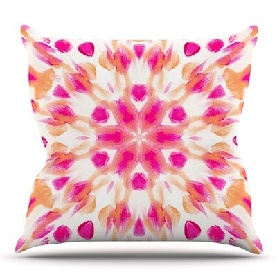 Batik Mandala by Iris Lehnhardt Outdoor Throw Pillow