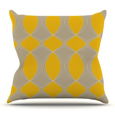 Geometries by Julia Grifol Outdoor Throw Pillow