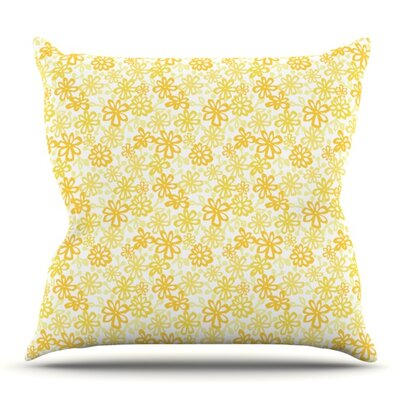 Paper Daisy by Julie Hamilton Outdoor Throw Pillow