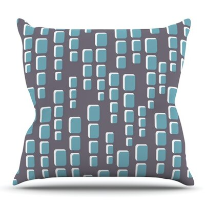 Cubic Geek Chic by Michelle Drew Outdoor Throw Pillow