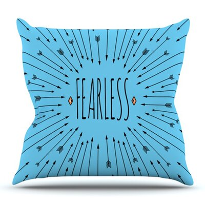 Fearless by Skye Zambrana Outdoor Throw Pillow