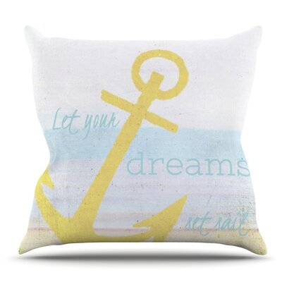 Let Your Dreams Set Sail by Alison Coxon Outdoor Throw Pillow
