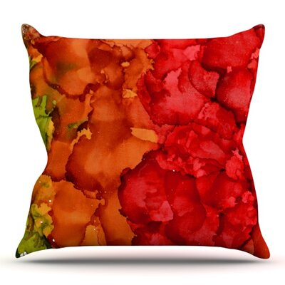 Fall Splatter by Claire Day Outdoor Throw Pillow