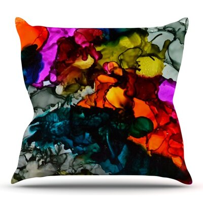 Hippie Love Child by Claire Day Outdoor Throw Pillow