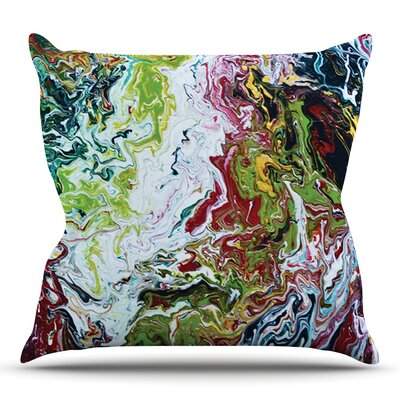 Chaos by Claire Day Outdoor Throw Pillow