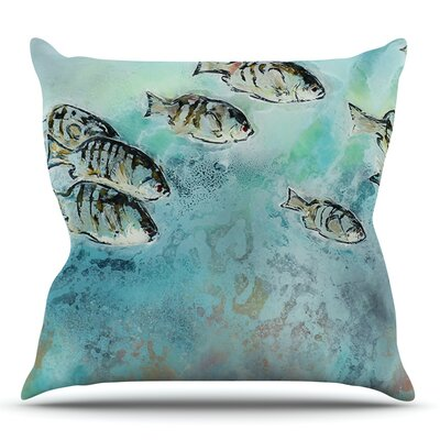 Surf Perch by Josh Serafin Outdoor Throw Pillow
