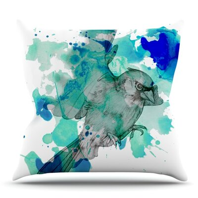 A Cardinal by Kira Crees Outdoor Throw Pillow