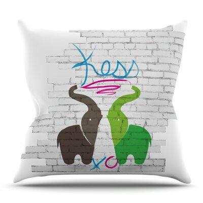 Elephants Outdoor Throw Pillow