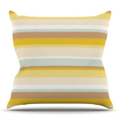Desert Stripes by Nika Martinez Outdoor Throw Pillow