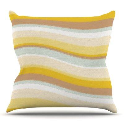 Desert Waves by Nika Martinez Outdoor Throw Pillow