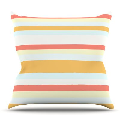 Sand Stripes by Nika Martinez Outdoor Throw Pillow
