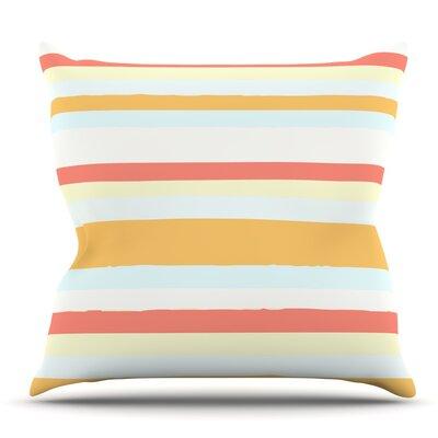 Sand Stripes by Nika Martinez Outdoor Throw Pillow