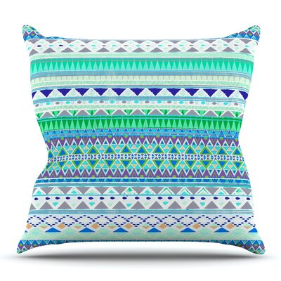 Emerald Chenoa by Nika Martinez Outdoor Throw Pillow