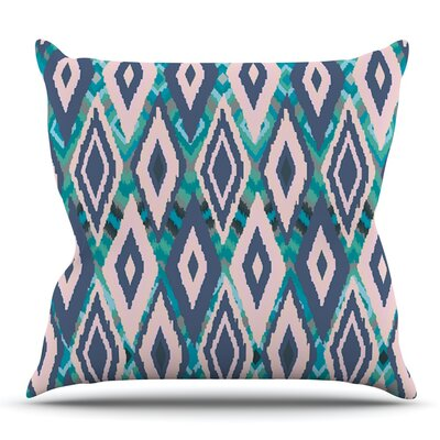 Tribal Ikat by Nika Martinez Outdoor Throw Pillow