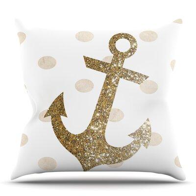 Glitter Anchor by Nika Martinez Outdoor Throw Pillow
