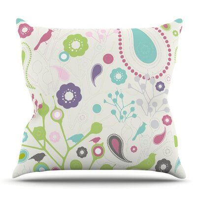 Bird Song by Nicole Ketchum Outdoor Throw Pillow