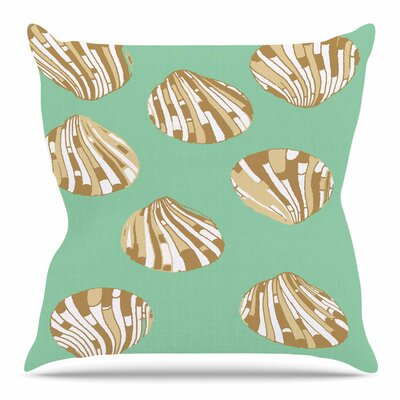 Scallop Shells by Rosie Brown Outdoor Throw Pillow
