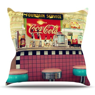 Retro Diner by Sylvia Cook Outdoor Throw Pillow