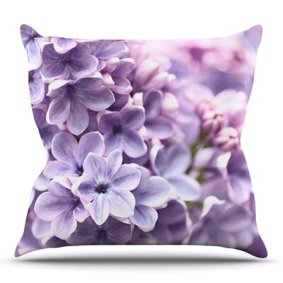 Lilac by Sylvia Cook Outdoor Throw Pillow