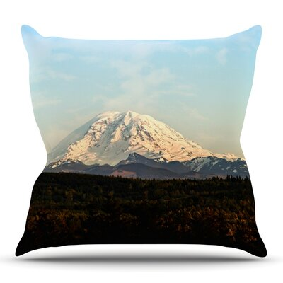 Rainier by Sylvia Cook Outdoor Throw Pillow