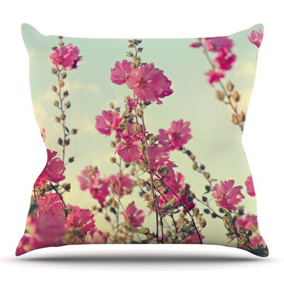 Lavatera by Sylvia Cook Outdoor Throw Pillow