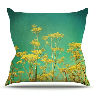 Flowers by Sylvia Cook Outdoor Throw Pillow