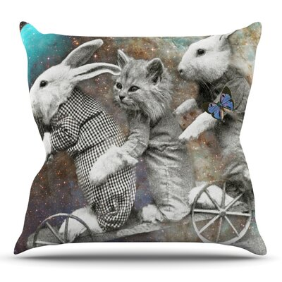 Space Travel by Suzanne Carter Outdoor Throw Pillow
