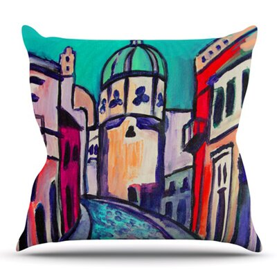 Procida by Theresa Giolzetti Outdoor Throw Pillow