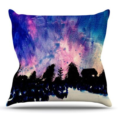 First Snow by Theresa Giolzetti Outdoor Throw Pillow