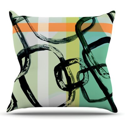 Sixties Stripe by Theresa Giolzetti Outdoor Throw Pillow