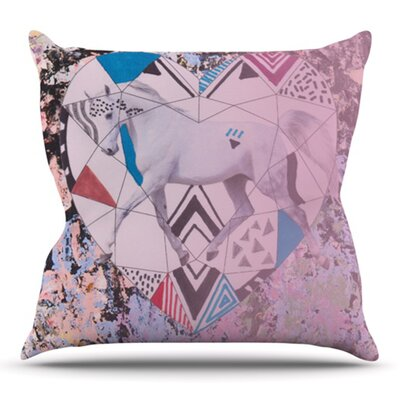 Unicorn by Vasare Nar Outdoor Throw Pillow