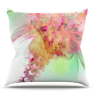 Lily by Alison Coxon Outdoor Throw Pillow