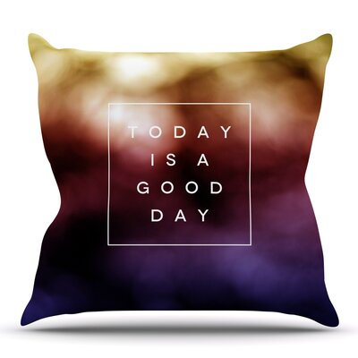 Good Day by Galaxy Eyes Outdoor Throw Pillow