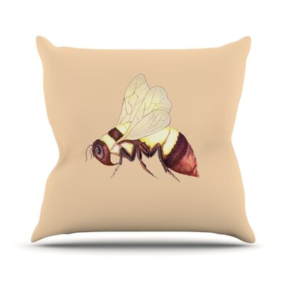 Bee Happy by Catherine Holcombe Outdoor Throw Pillow