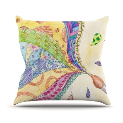 The Painted Quilt by Catherine Holcombe Outdoor Throw Pillow