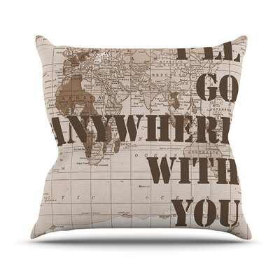 I'll Go Anywhere With You by Catherine Holcombe Outdoor Throw Pillow