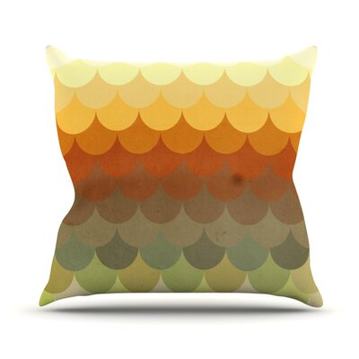 Half Circle Waves Color Outdoor Throw Pillow