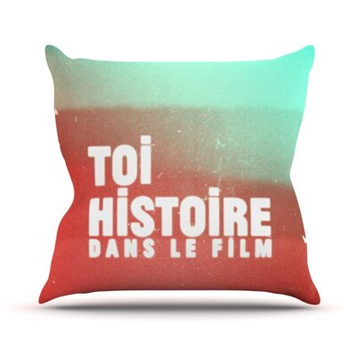 Toi Histoire by Danny Ivan Outdoor Throw Pillow