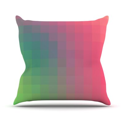 Gradient Print Outdoor Throw Pillow