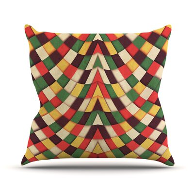 Rastafarian Tile by Danny Ivan Outdoor Throw Pillow