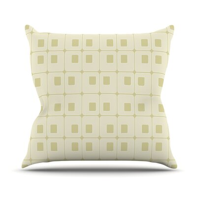 Squares in Square Outdoor Throw Pillow