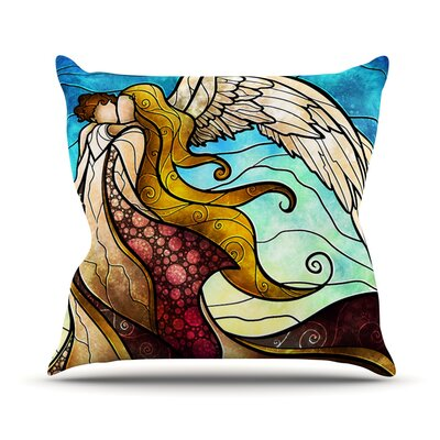 In the arms of the Angel by Mandie Manzano Outdoor Throw Pillow